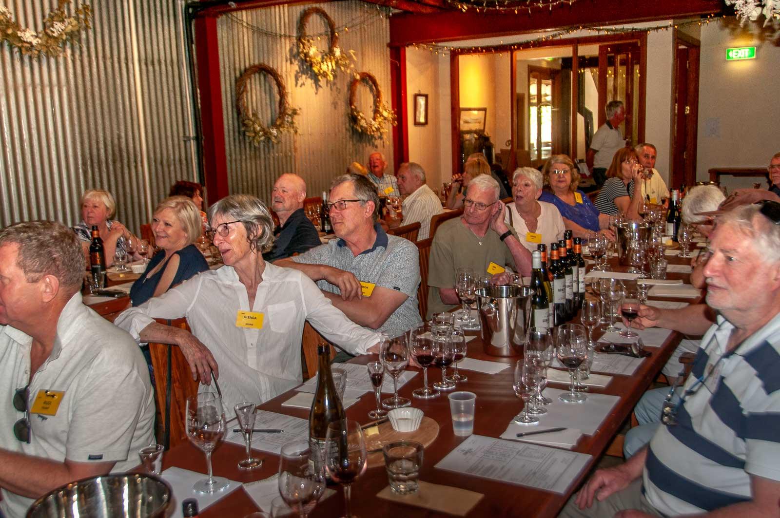 Wine tasting at Gomersal Wines