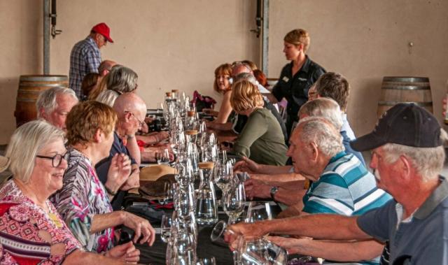 Tasting at Murray Valley Street Vineyards
