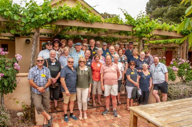 Group photo at  Murray Valley Street Vineyards